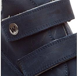 Детские зимние ботинки на меху Woopy Orthopedic синие для девочек нубук-ойл ( это нубук, который в процессе производства защитили от влаги). размер - (1555) Фото 3