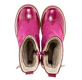 Детские зимние сапожки на меху Woopy Orthopedic розовый для девочек лаковая кожа, нубук-ойл ( это нубук, который в процессе производства защитили от влаги). размер - (1557) Фото 2