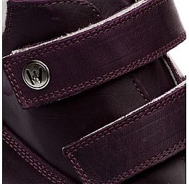Детские зимние ботинки на меху Woopy Orthopedic темно-фиолетовые для девочек нубук-ойл ( это нубук, который в процессе производства защитили от влаги). размер - (1559) Фото 2