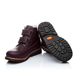 Детские зимние ботинки на меху Woopy Orthopedic темно-фиолетовые для девочек нубук-ойл ( это нубук, который в процессе производства защитили от влаги). размер - (1559) Фото 3