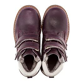 Детские зимние ботинки на меху Woopy Orthopedic темно-фиолетовые для девочек нубук-ойл ( это нубук, который в процессе производства защитили от влаги). размер - (1559) Фото 4