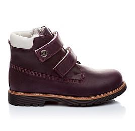 Детские зимние ботинки на меху Woopy Orthopedic темно-фиолетовые для девочек нубук-ойл ( это нубук, который в процессе производства защитили от влаги). размер - (1559) Фото 5