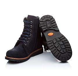 Детские зимние ботинки на меху Woopy Orthopedic темно-синий для девочек нубук-ойл ( это нубук, который в процессе производства защитили от влаги). размер - (1560) Фото 2