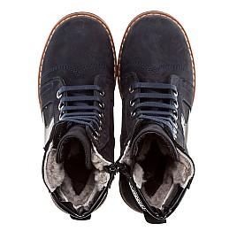 Детские зимние ботинки на меху Woopy Orthopedic темно-синий для девочек нубук-ойл ( это нубук, который в процессе производства защитили от влаги). размер - (1560) Фото 4