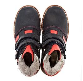 Детские зимние ботинки на меху Woopy Orthopedic синий для мальчиков нубук размер - (1561) Фото 4