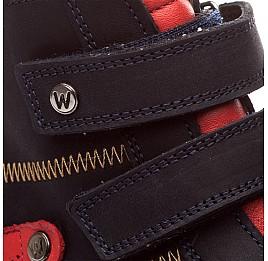 Детские зимние ботинки на меху Woopy Orthopedic синий для мальчиков нубук размер - (1561) Фото 5