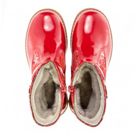 Детские зимние сапожки на меху Woopy Orthopedic красный для девочек лаковая кожа, нубук размер - (1570) Фото 4