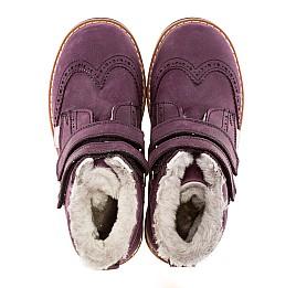 Детские зимние ботинки на меху Woopy Orthopedic синие для девочек нубук-ойл ( это нубук, который в процессе производства защитили от влаги). размер - (1571) Фото 5