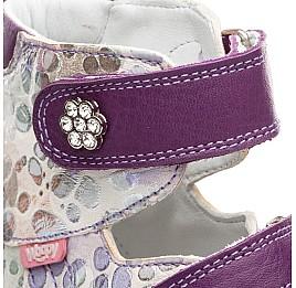 Детские ортопедические туфли Woopy Orthopedic белый, фиолетовый для девочек натуральная кожа размер - (1594) Фото 4