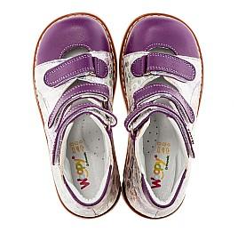Детские ортопедические туфли Woopy Orthopedic белый, фиолетовый для девочек натуральная кожа размер - (1594) Фото 5