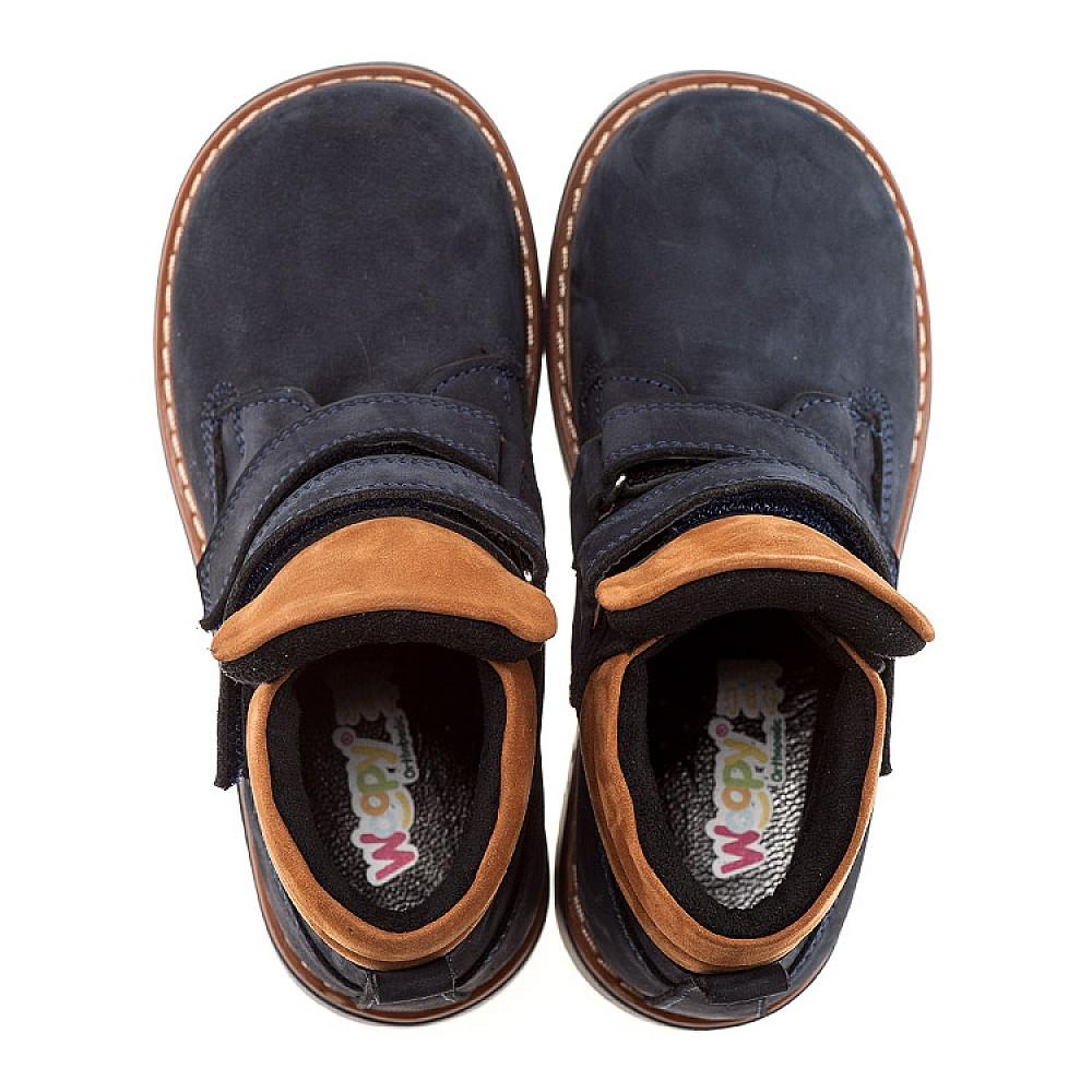Детские демисезонные ботинки Woopy Orthopedic темно-синие для девочек натуральный нубук размер 18-36 (1608) Фото 2