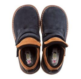 Детские демисезонные ботинки Woopy Orthopedic темно-синие для девочек натуральный нубук размер 18-19 (1608) Фото 2