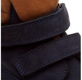 Детские демисезонные ботинки Woopy Orthopedic темно-синие для девочек натуральный нубук размер 18-19 (1608) Фото 3