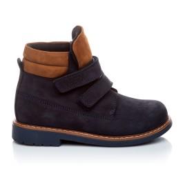 Детские демисезонные ботинки Woopy Orthopedic темно-синие для девочек натуральный нубук размер 18-19 (1608) Фото 4