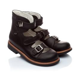 Детские ортопедические туфли Woopy Orthopedic черный для мальчиков кожа размер - (1619) Фото 1