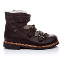 Детские ортопедические туфли Woopy Orthopedic черный для мальчиков кожа размер - (1619) Фото 2