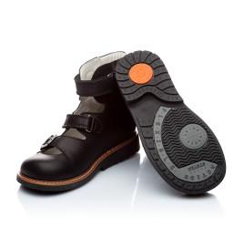 Детские ортопедические туфли Woopy Orthopedic черный для мальчиков кожа размер - (1619) Фото 3