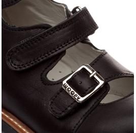 Детские ортопедические туфли Woopy Orthopedic черный для мальчиков кожа размер - (1619) Фото 4