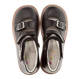 Детские ортопедические туфли Woopy Orthopedic черный для мальчиков кожа размер - (1619) Фото 5