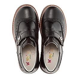 Детские ортопедические туфли Woopy Orthopedic черный для мальчиков натуральная кожа размер - (1623) Фото 5