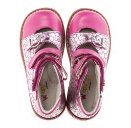 Детские ортопедические туфли Woopy Orthopedic серебро, розовый для девочек натуральная кожа размер - (1640) Фото 2