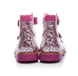 Детские ортопедические туфли Woopy Orthopedic серебро, розовый для девочек натуральная кожа размер - (1640) Фото 3