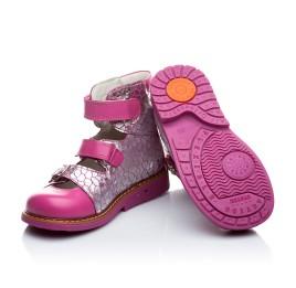 Детские ортопедические туфли Woopy Orthopedic серебро, розовый для девочек натуральная кожа размер - (1640) Фото 5