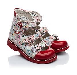 Детские ортопедические туфли Woopy Orthopedic разноцветный, красный для девочек натуральная кожа размер - (1645) Фото 1