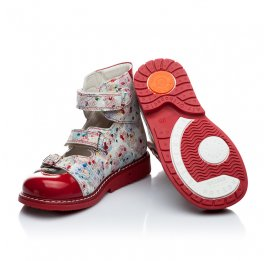 Детские ортопедические туфли Woopy Orthopedic разноцветный, красный для девочек натуральная кожа размер - (1645) Фото 3