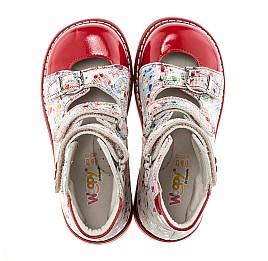 Детские ортопедические туфли Woopy Orthopedic разноцветный, красный для девочек натуральная кожа размер - (1645) Фото 4