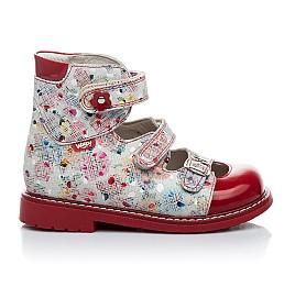 Детские ортопедические туфли Woopy Orthopedic разноцветный, красный для девочек натуральная кожа размер - (1645) Фото 5