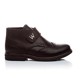 Детские демисезонные ботинки (внутри кожа) Woopy Orthopedic черный для мальчиков натуральная кожа размер - (1654) Фото 2