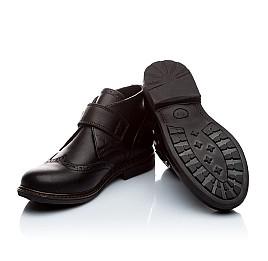 Детские демисезонные ботинки (внутри кожа) Woopy Orthopedic черный для мальчиков натуральная кожа размер - (1654) Фото 3