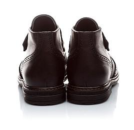 Детские демисезонные ботинки (внутри кожа) Woopy Orthopedic черный для мальчиков натуральная кожа размер - (1654) Фото 4