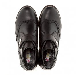Детские демисезонные ботинки (внутри кожа) Woopy Orthopedic черный для мальчиков натуральная кожа размер - (1654) Фото 5