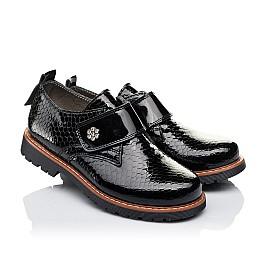 Детские туфли Woopy Orthopedic черные для девочек натуральная лаковая кожа размер 29-29 (1693) Фото 1