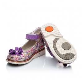 Детские ортопедические туфли Woopy Orthopedic сиреневые, разноцветные для девочек натуральная кожа размер 18-18 (1791) Фото 4