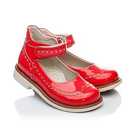 Детские ортопедичні туфлі Woopy Orthopedic коралловые для девочек натуральная лаковая кожа размер 21-21 (1818) Фото 1