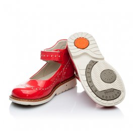Детские ортопедичні туфлі Woopy Orthopedic коралловые для девочек натуральная лаковая кожа размер 21-21 (1818) Фото 2