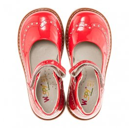Детские ортопедичні туфлі Woopy Orthopedic коралловые для девочек натуральная лаковая кожа размер 21-21 (1818) Фото 5