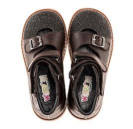 Детские ортопедические туфли (с высоким берцем) Woopy Orthopedic коричневые для мальчиков натуральная кожа размер 18-21 (1857) Фото 4