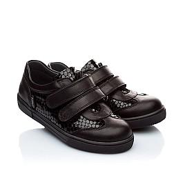 Детские туфли Woopy Orthopedic черный для девочек натуральная кожа размер - (1867) Фото 1
