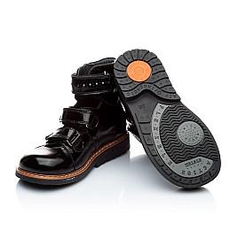 Детские ортопедические туфли Woopy Orthopedic черные для девочек натуральная лаковая кожа размер 27-27 (1881) Фото 2