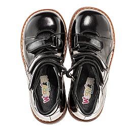 Детские ортопедические туфли Woopy Orthopedic черные для девочек натуральная лаковая кожа размер - (1881) Фото 5