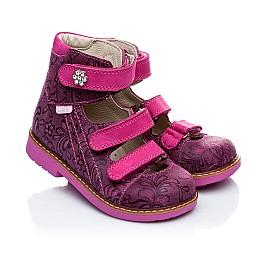 Детские ортопедические туфли (с высоким берцем) Woopy Orthopedic розовые для девочек натуральная кожа размер 18-21 (1885) Фото 1