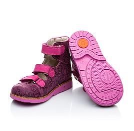 Детские ортопедические туфли (с высоким берцем) Woopy Orthopedic розовые для девочек натуральная кожа размер 18-21 (1885) Фото 3