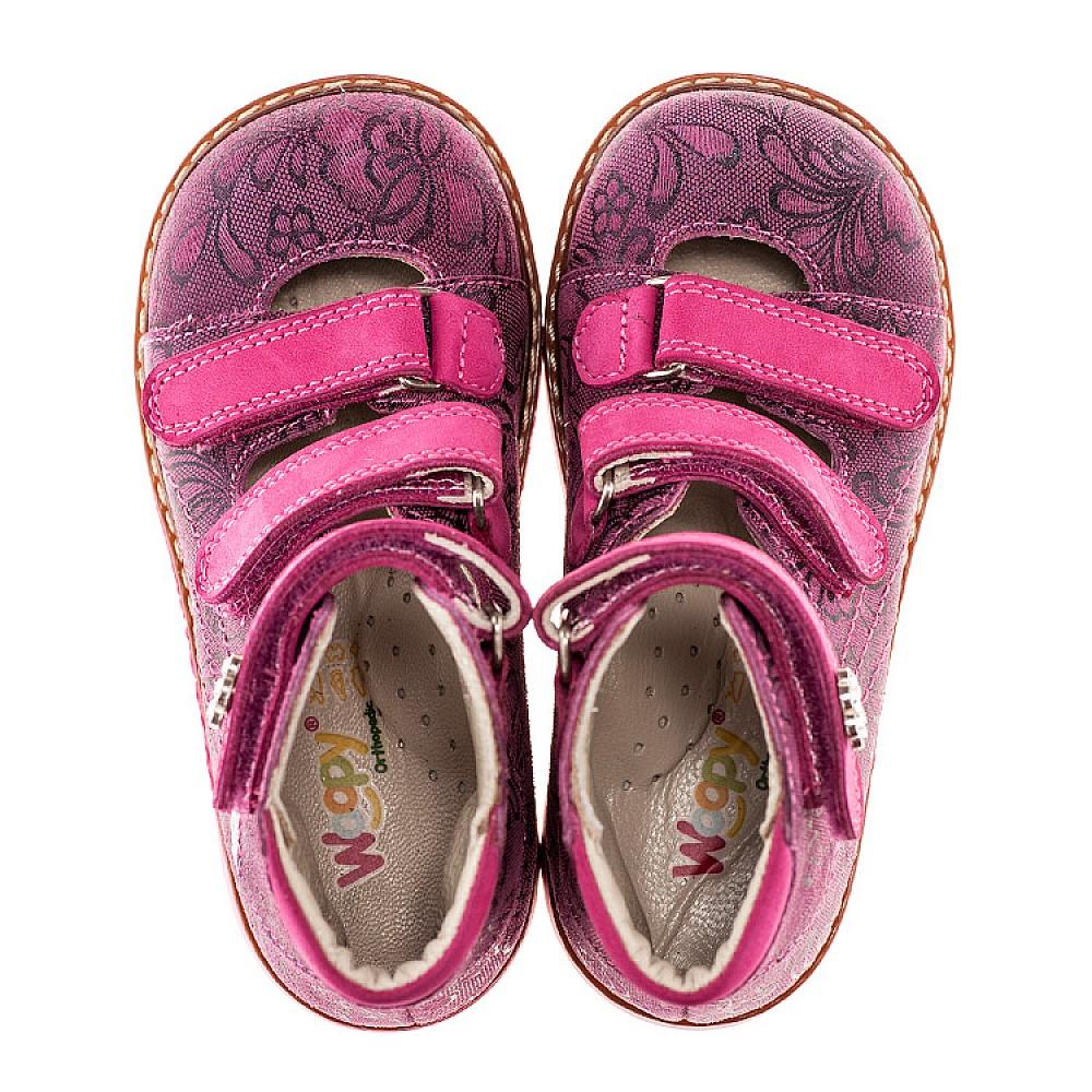 Детские ортопедические туфли (с высоким берцем) Woopy Orthopedic розовые для девочек натуральная кожа размер 18-25 (1885) Фото 4