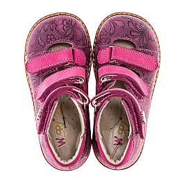 Детские ортопедические туфли (с высоким берцем) Woopy Orthopedic розовые для девочек натуральная кожа размер 18-21 (1885) Фото 4