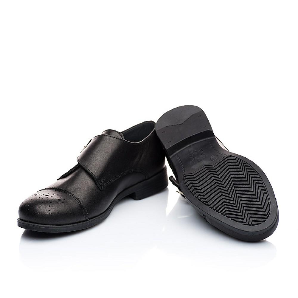 Детские туфли (застежка на резинке) Woopy Orthopedic черные для мальчиков натуральная кожа размер 31-39 (1904) Фото 2