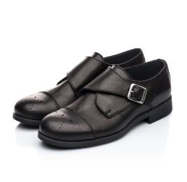 Детские туфли (застежка на резинке) Woopy Orthopedic черные для мальчиков натуральная кожа размер 31-39 (1904) Фото 3
